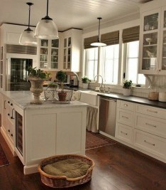 Beautiful gray kitchen cabinet design ideas 18