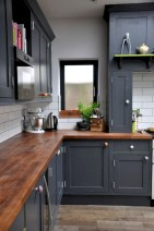 Beautiful gray kitchen cabinet design ideas 23
