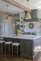 Beautiful gray kitchen cabinet design ideas 27