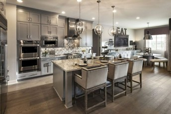 Beautiful gray kitchen cabinet design ideas 36