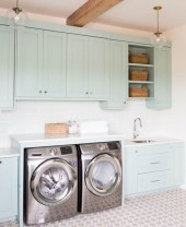 Brilliant small laundry room storage organization ideas on a budget 01