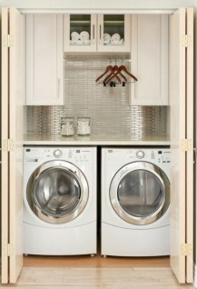 Brilliant small laundry room storage organization ideas on a budget 05