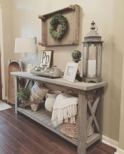 Catchy farmhouse rustic entryway decor ideas 14