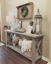 Catchy farmhouse rustic entryway decor ideas 14