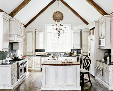 Classic shabby chic vintage kitchens design decor (24)