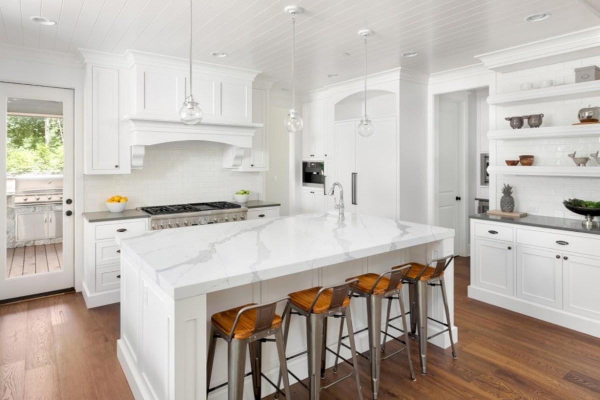 Classic shabby chic vintage kitchens design decor (37)