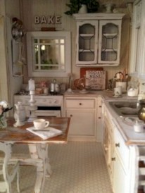 Classic shabby chic vintage kitchens design decor (44)