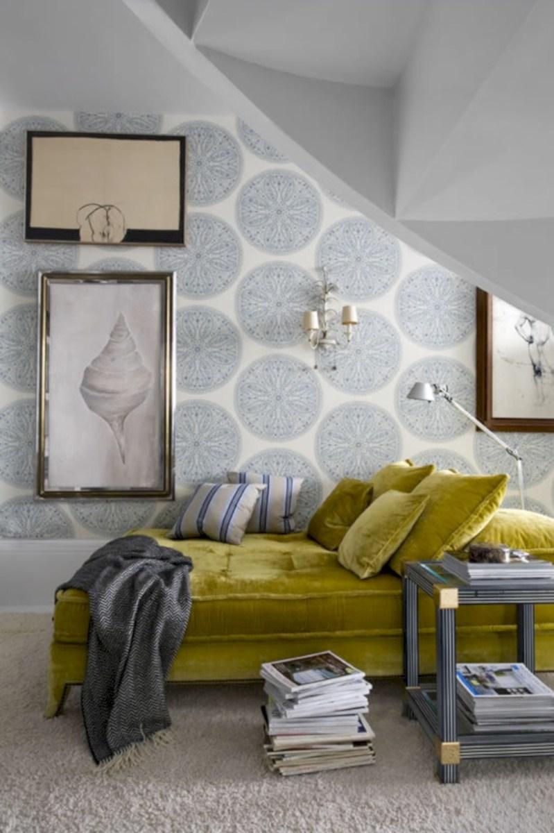 Comfy grey yellow bedrooms decorating ideas (12)