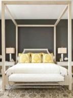 Comfy grey yellow bedrooms decorating ideas (16)