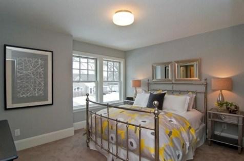 Comfy grey yellow bedrooms decorating ideas (21)