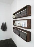 Cool bathroom storage shelves organization ideas 09