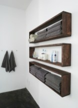 Cool bathroom storage shelves organization ideas 09