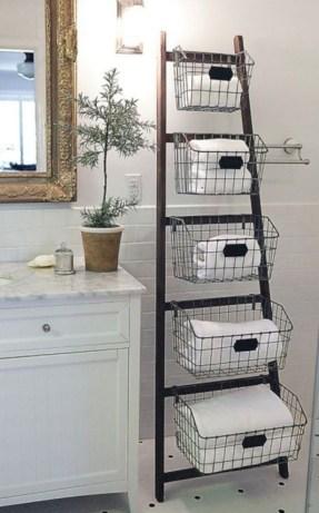 Cool bathroom storage shelves organization ideas 12