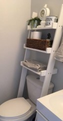 Cool bathroom storage shelves organization ideas 16