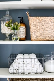 Cool bathroom storage shelves organization ideas 32