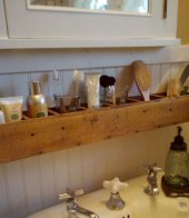 Cool bathroom storage shelves organization ideas 39