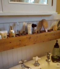 Cool bathroom storage shelves organization ideas 39