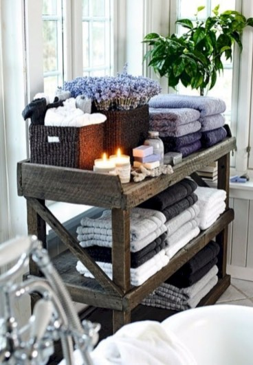 Cool bathroom storage shelves organization ideas 40