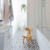 Cool modern geometric concept bathroom designs ideas (25)