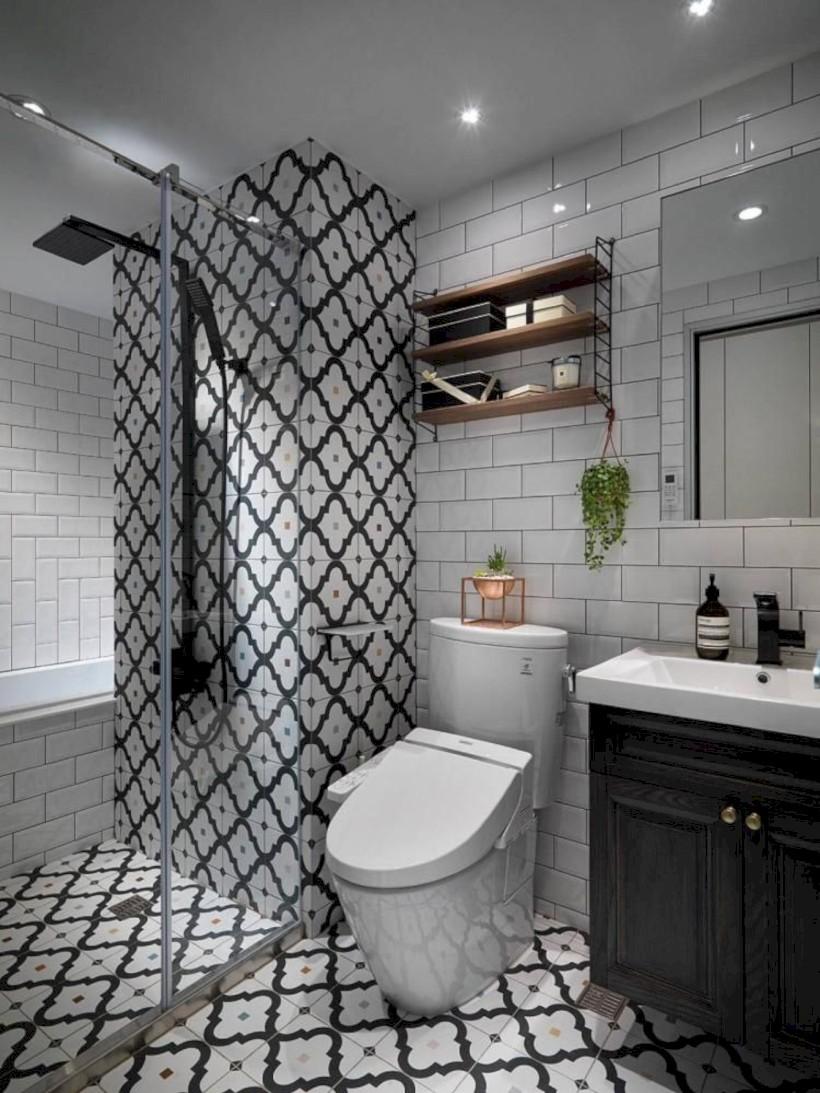 Cool modern geometric concept bathroom designs ideas (30)