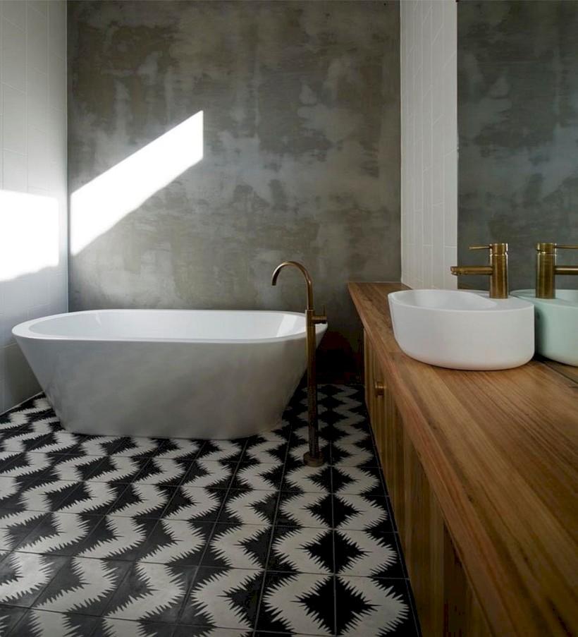 Cool modern geometric concept bathroom designs ideas (35)