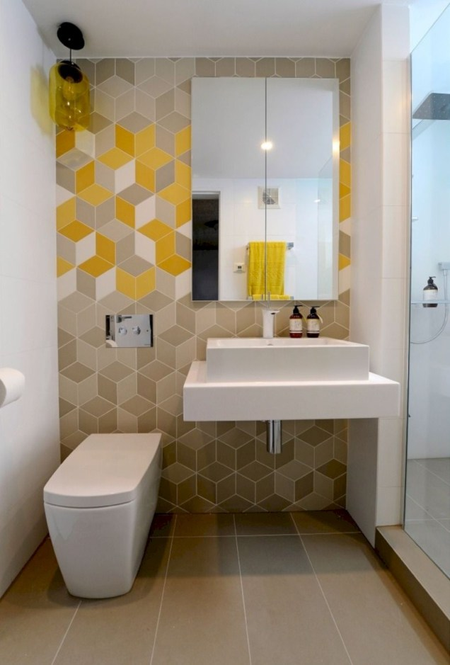 Cool modern geometric concept bathroom designs ideas (45)