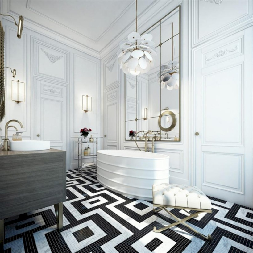 Cool modern geometric concept bathroom designs ideas (5)