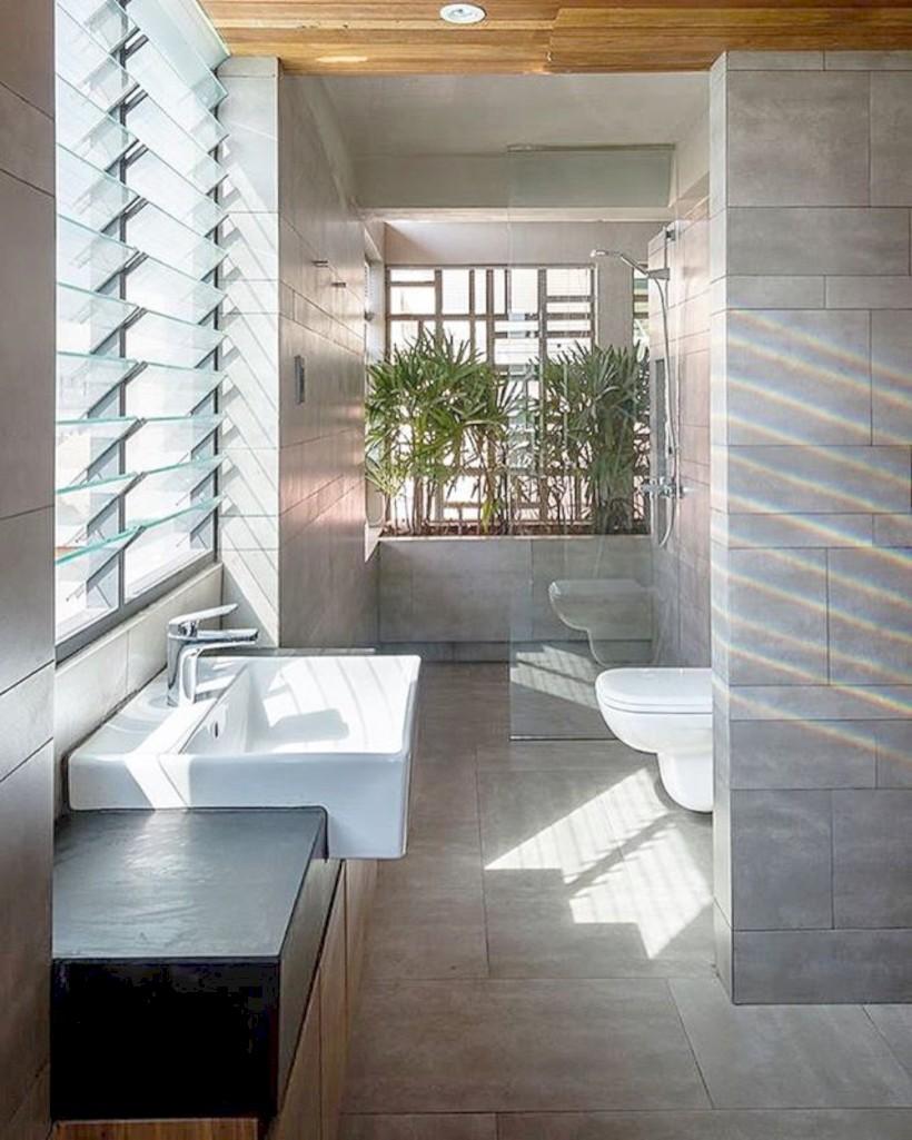 Cool modern geometric concept bathroom designs ideas (9)