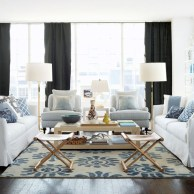 Cozy apartment living room black and white style inspirations ideas 02