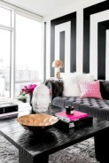 Cozy apartment living room black and white style inspirations ideas 11