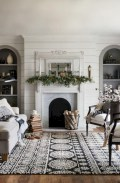Cozy apartment living room black and white style inspirations ideas 19