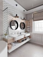 Cozy small scandinavian bathroom design ideas (29)