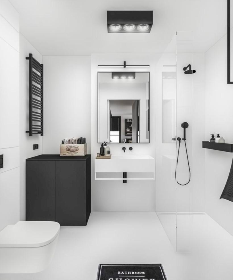 Cozy small scandinavian bathroom design ideas (6) - Round Decor