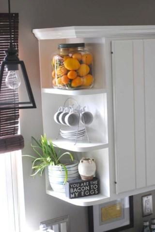 Creative kitchen open shelves ideas on a budget 12