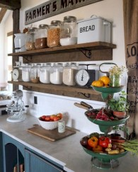 Creative kitchen open shelves ideas on a budget 21