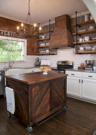 Creative kitchen open shelves ideas on a budget 27
