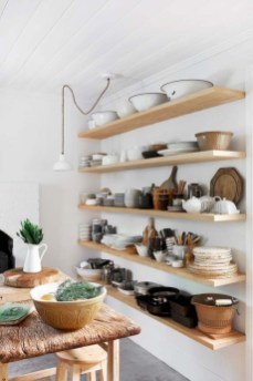 Creative kitchen open shelves ideas on a budget 33