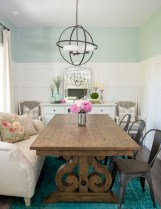 Fancy french country dining room table decor ideas 09