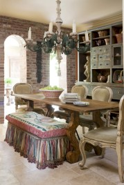 Fancy french country dining room table decor ideas 15