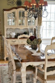 Fancy french country dining room table decor ideas 17