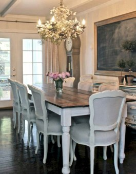 Fancy french country dining room table decor ideas 19