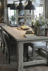 Fancy french country dining room table decor ideas 21