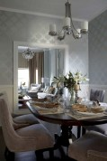 Fancy french country dining room table decor ideas 25