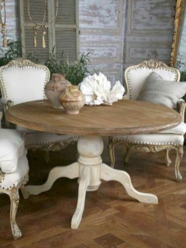 Fancy french country dining room table decor ideas 27