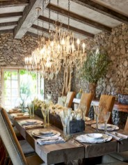 Fancy french country dining room table decor ideas 28