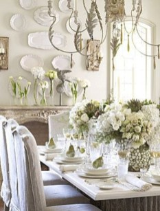 Fancy french country dining room table decor ideas 33