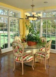 Fancy french country dining room table decor ideas 34