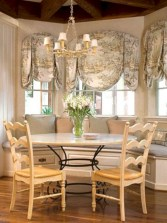 Fancy french country dining room table decor ideas 35