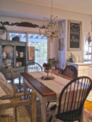Fancy french country dining room table decor ideas 44