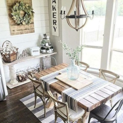 Fancy french country dining room table decor ideas 47